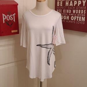 Philosophy White Short Sleeve Shirt NWT